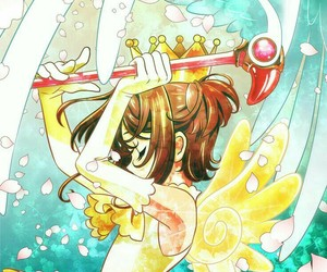 fan art, wings, and sakura card captor image