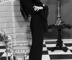 Morticia Addams and the addams family image