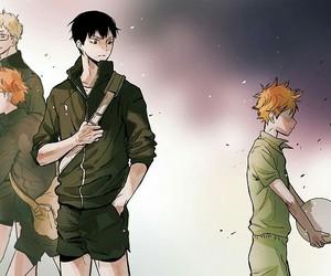 yaoi, haikyuu, and kagehina image