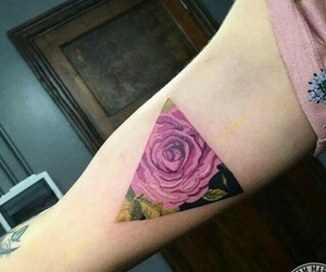 pink, rosa, and tatto image