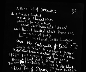 coldplay, Lyrics, and a head full of dreams image