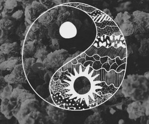 black and white, design, and peace image