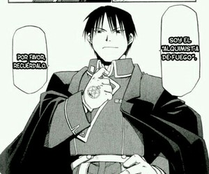 anime, Full Metal Alchemist, and roy mustang image