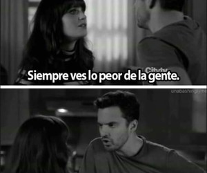 frases, text, and new girl image