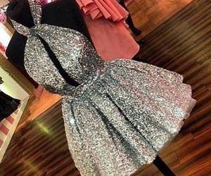 dress, girl, and silver image