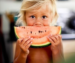 cute, watermelon, and kids image