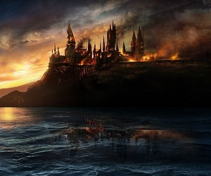 harry potter, hogwarts, and fire image