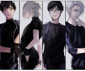 yuri on ice, yuri plisetsky, and viktor nikiforov image