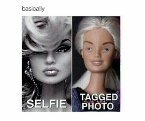 selfie, funny, and barbie image
