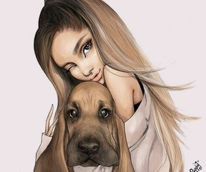 dog, ariana grande, and haïr image