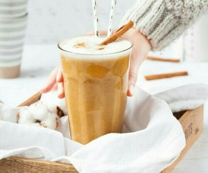 Cinnamon, latte, and coffee image