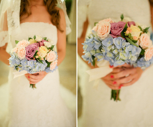 bouquet, bridal, and flowers image