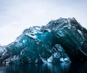 iceberg, blue, and ice image