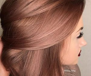 hair and rose gold image