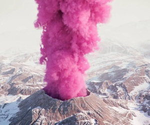 pink and volcano image