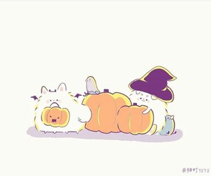 cat, Halloween, and japan image