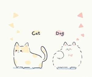 cartoon, cat, and dog image