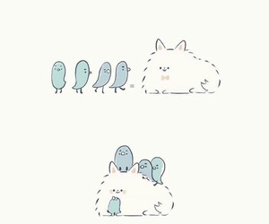 bird, cartoon, and cat image