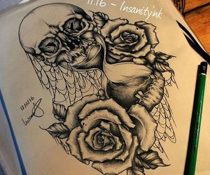 destroy, hourglass, and roses image