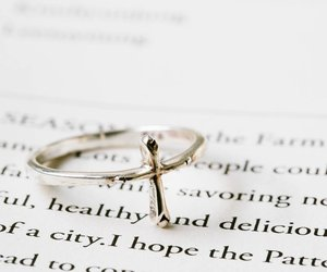 thumb ring, cross ring, and silver rings image
