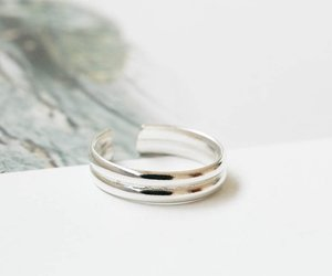 thumb ring, silver rings, and funky rings image