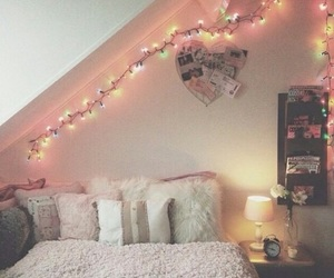 bed, girl, and bedroom image