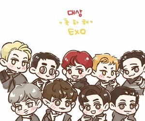 aaa, Chen, and chibi image