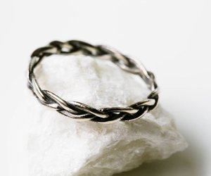 thumb ring, silver ring, and knuckle ring image