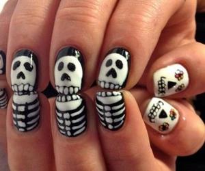 nails, skull, and skeleton image