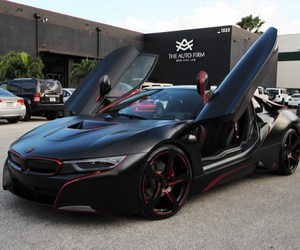 black and red, bmw, and car image