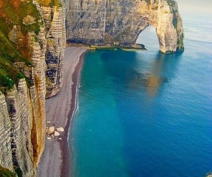 france, sea, and beach image
