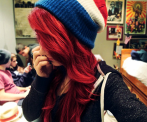 hair, girl, and red hair image