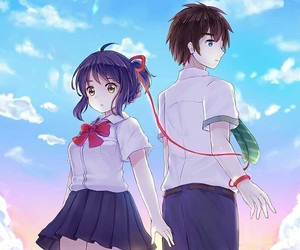 anime, your name, and k imi no nawa image