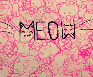 cat, hello kitty, and meow image