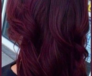 maroon and hair color image