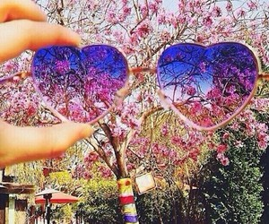 heart, pink, and sunglasses image