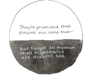 black and white, dreams, and quote image