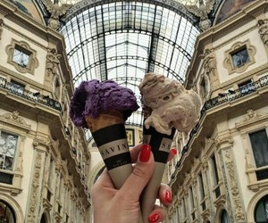 food, ice cream, and delicious image