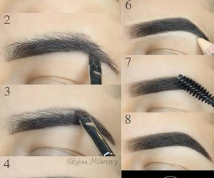 girl, brows, and makeup tutorial image