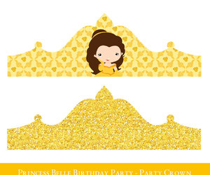 etsy, princess party, and princess belle image