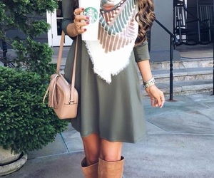 fashion, dress, and fall image