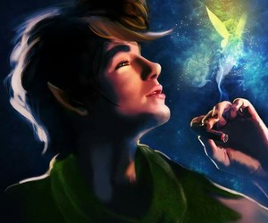 peter pan, disney, and art image