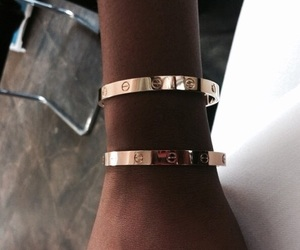 gold, bracelet, and cartier image