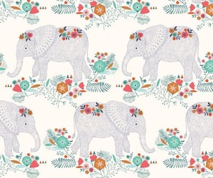 background, elephant, and pattern image