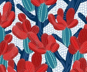 cactus, pattern, and red image