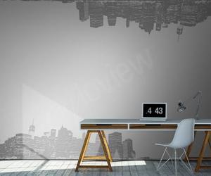 city, grey, and home decor image