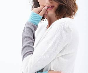 fashion and colorblock sweater image