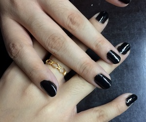 black, infinity, and nails image