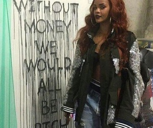 rihanna, money, and quotes image