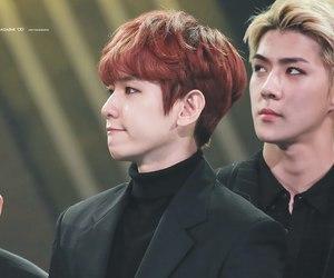 exo-m, exo-l, and baekhyun image